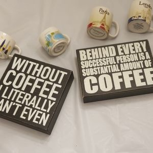 NEW Set of 2 Graphic Coffee Wall Art Frames